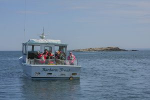 student trip on Lobster boat