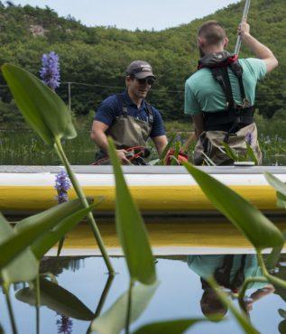 Students working at Acadia National Park