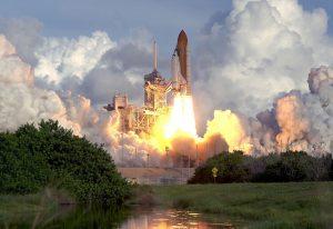 image of shuttle liftoff